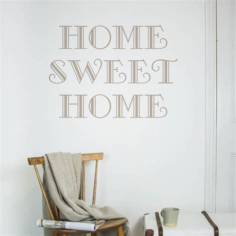 home sweet home wall stickers home sweet home wall sticker by nutmeg notonthehighstreet