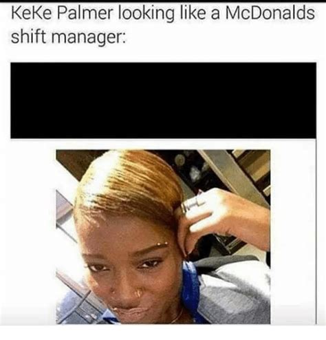 Keke Meme - keke palmer looking like a mcdonalds shift manager