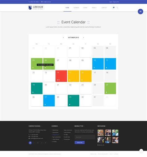 design event listings lincoln educational material design psd theme by dzoan