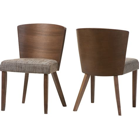 sparrow dining chair gravel walnut set of 2 dcg stores