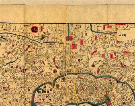 texas library maps edo tokyo 1844 1848 perry casta 241 eda map collection ut library