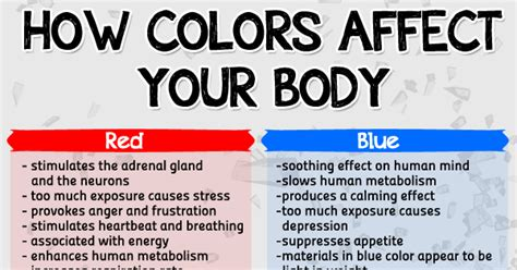 how colors affect your herbs info