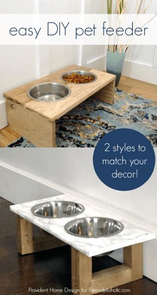 remodelaholic diy dog food bowl stand for small pups remodelaholic diy dog food bowl stand for small pups