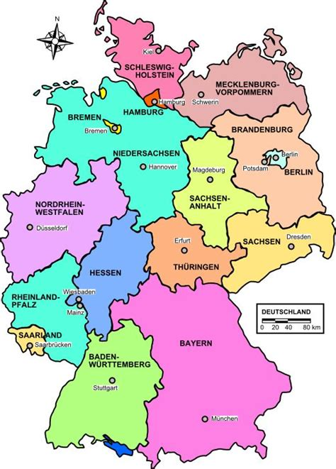 germany map states europe us states and germany on