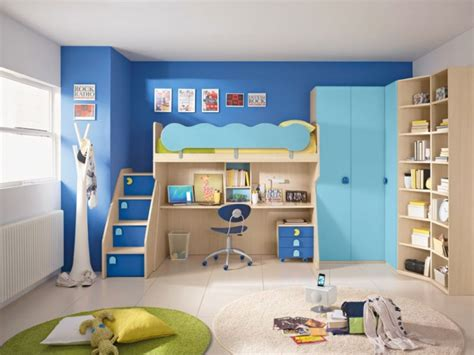 Funky Bunk Beds Uk Blue Funky Bunk Beds With Corner Wardrobe