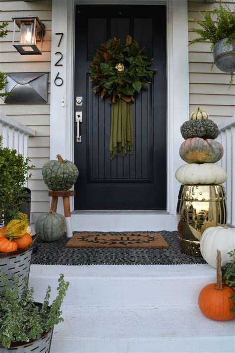 small porch decor fall front porch outside our cape nesting with grace