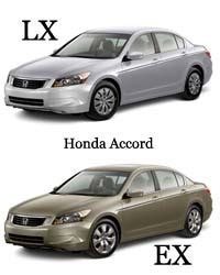 difference between honda accord lx and ex difference between