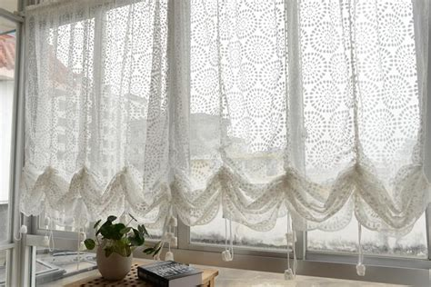 sheer balloon curtains french country embroidered balloon shade sheer voile cafe