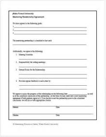 Mentoring Agreement Template mentoring agreement related keywords amp suggestions mentoring