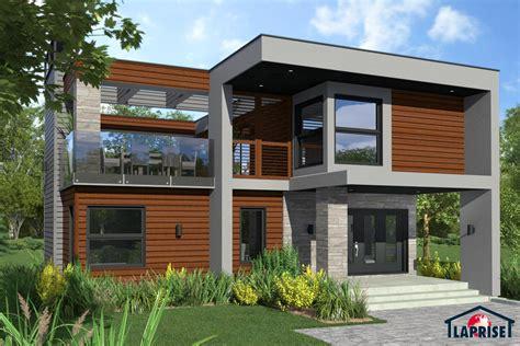 The Vue Floor Plans designer zen contemporain lap0532 maison laprise