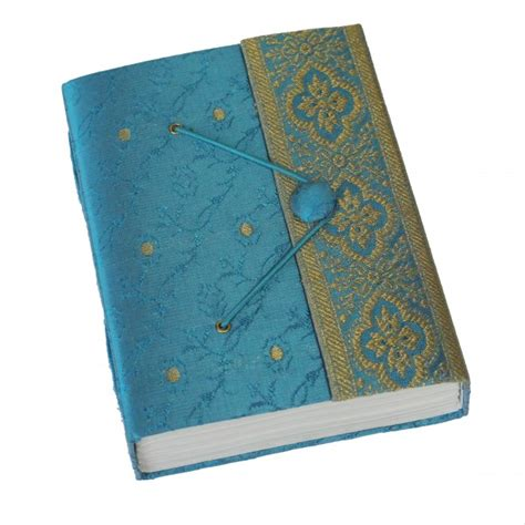 Handmade Paper Journal - fab fair fairtrade sari journal purple gold small