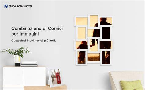 cornici multifoto da parete songmics cornice foto 10x15 cm multifoto da parete con 12