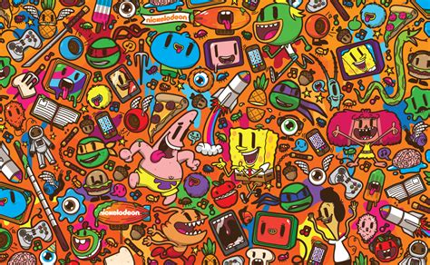 design art networks nickelodeon franchise pattern on behance