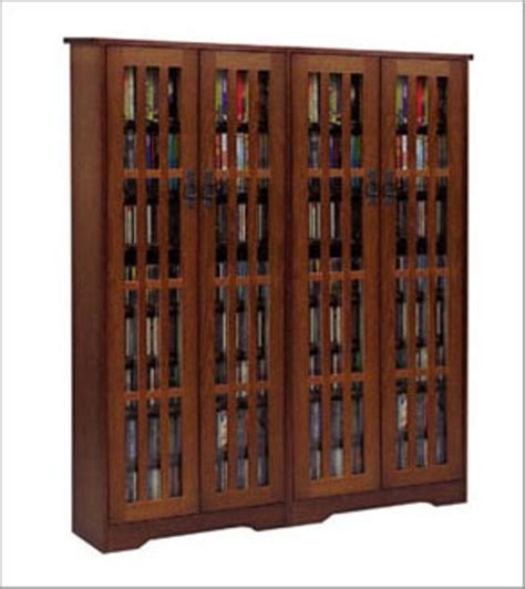 Oak Dvd Cabinet With Doors Wide Mission Media Cabinet Solid Oak Veneer Glass Doors Leslie Dame Enterprises