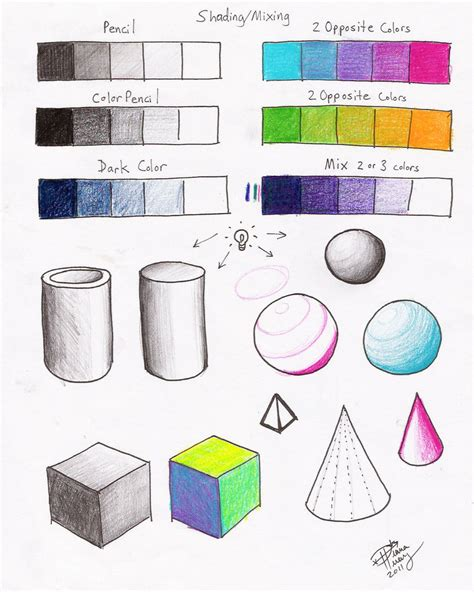 colored pencil techniques for coloring books shading mixing worksheet p2 by diana huang on deviantart