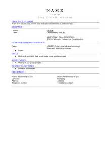 resume example 51 blank cv templates professional cv