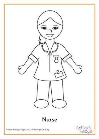 preschool coloring pages nurse people who help us colouring pages