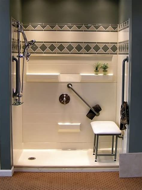 Ada Bathroom Designs by Handicap Showers