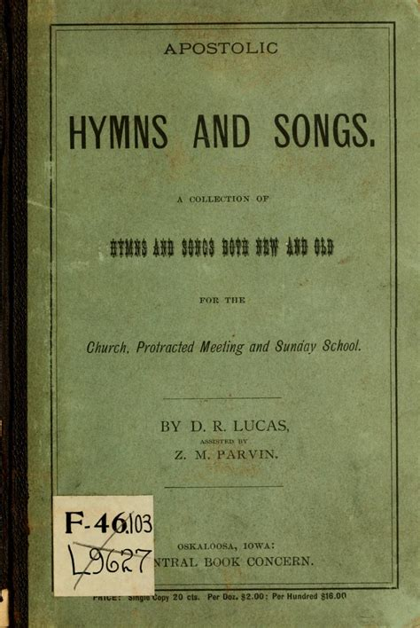 apostolic a living grace books apostolic hymns and songs a collection of hymns and songs
