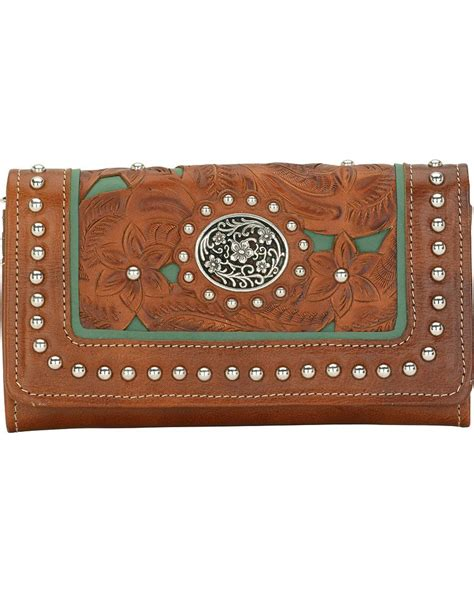 Mw23 Pattern Design Wallet Brown american west s lace western wallet boot barn