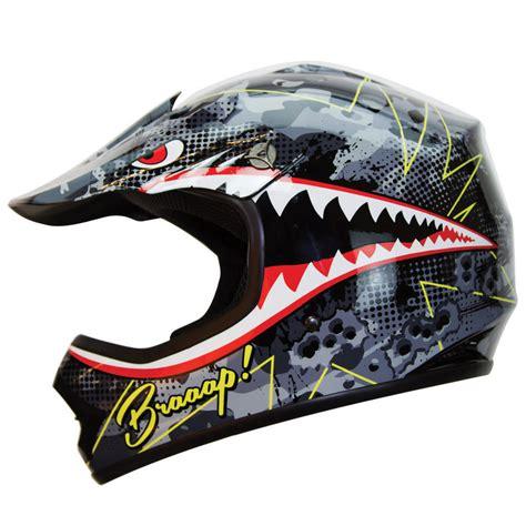 motocross helmets for kids iv2 youth kid quot braap quot shark bomber motocross atv dirt bike