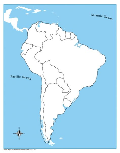 blank political map of america unlabeled south america map kid ease