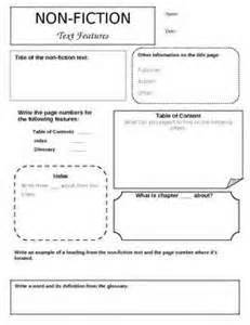 Nonfiction Text Features Worksheet by Nonfiction Text Features Matching Worksheet Saferbrowser