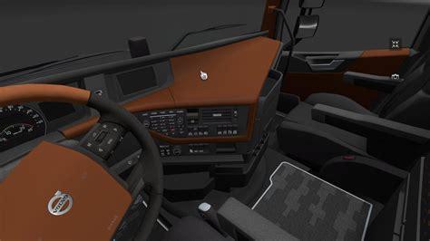 volvo 2012 black orange interior ets 2 mods volvo fh16 2012 brown leather interior modhub us