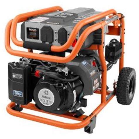 ridgid 6 800 watt idle gasoline powered electric
