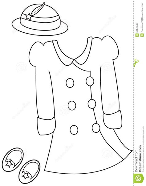 coloring pages of girl stuff girl s clothes coloring page stock illustration image