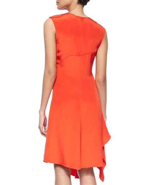silk drape dress 3 1 phillip lim sleeveless silk ruffle drape dress