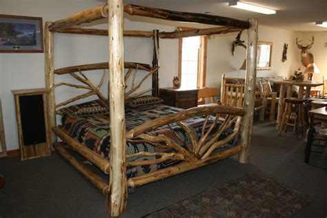 log cabin style bedroom log bed frames yesrail com