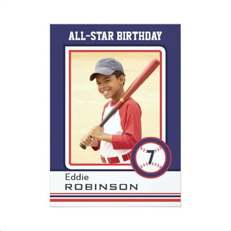 baseball card template 1000 ideas about birthday card template on