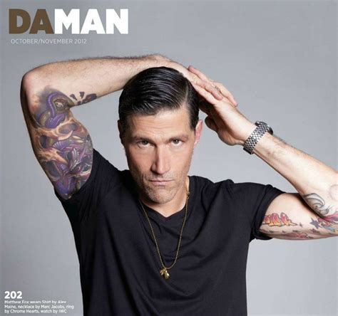 matthew fox tattoo daman magazine matthew fox photo 32392032 fanpop