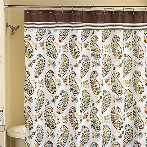 brown paisley shower curtain loft style hannah paisley 70 quot w x 72 quot l fabric shower