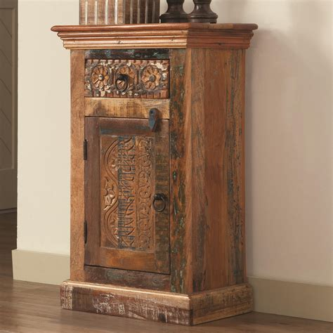 accent cabinets and chests coaster accent cabinets 950371 petite rustic cabinet