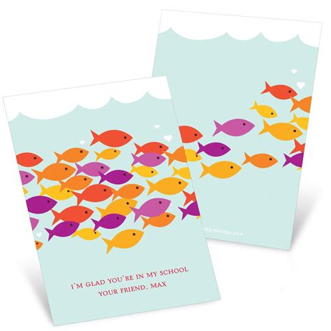 Gift Card For Kids - sea of love valentine s day cards for kids custom designs by pear tree