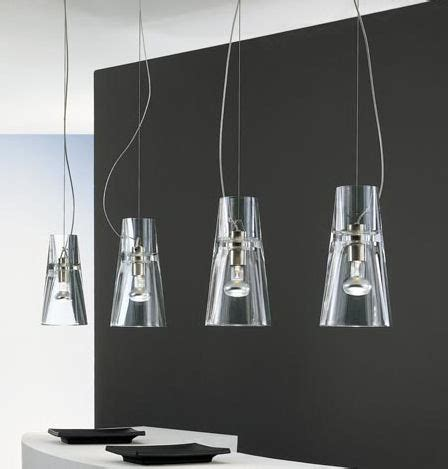 contemporary clear glass pendants from leucos the kon