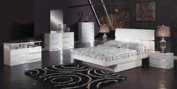 all modern furniture nyc 5 pc white glossy bedroom set modern bedroom