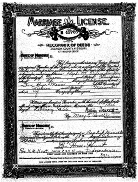 Marriage Records For Missouri Ky Marriage Records
