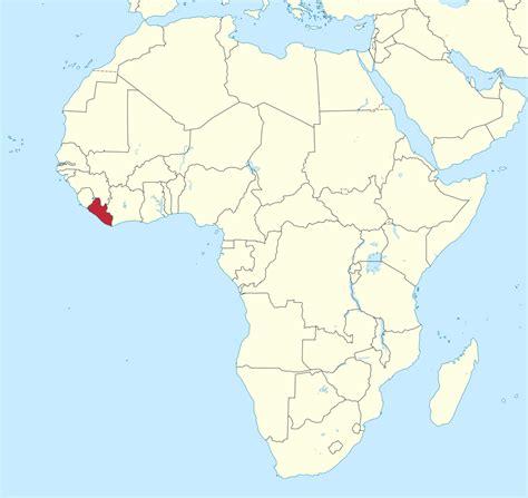 maps of liberia africa