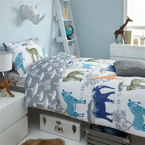 Animal Bedding Sets Boys Safari Animal Bedding Duvet Cover And Pillowcase Set Single Bed Size Ebay