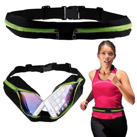 Running Waist Belt Bag Tas Pinggang Sport sport runner zipper pack belly waist bag fitness running bum belt pouch ebay