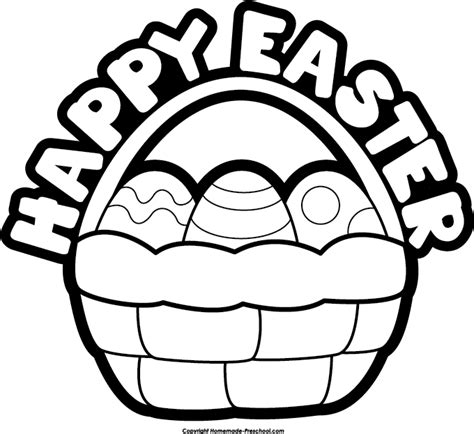 Easter Images Clip Black And White black and white easter clipart clipart suggest
