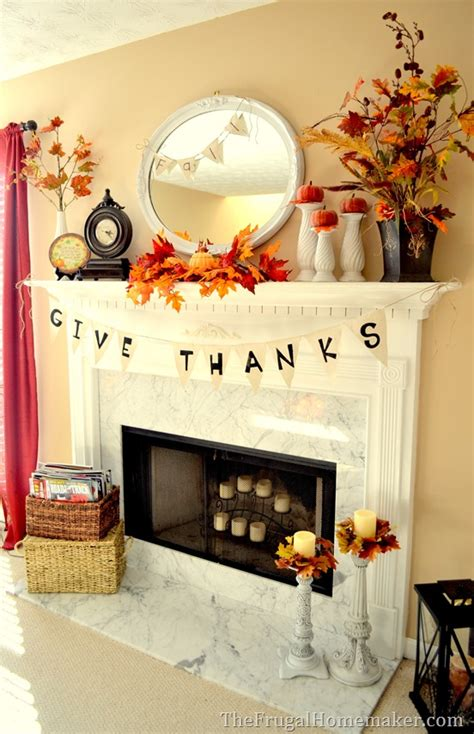 1000 ideas about fall fireplace mantel on pinterest fall project round up the frugal homemaker fall
