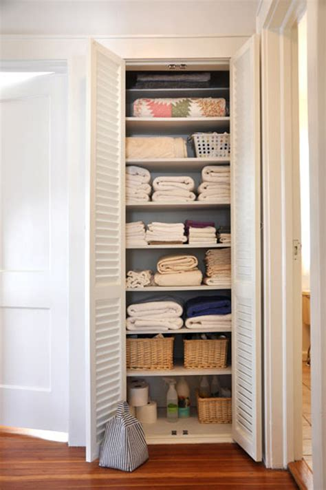 Linen Closet by Beautifully Organized Linen Closets Apartment Therapy