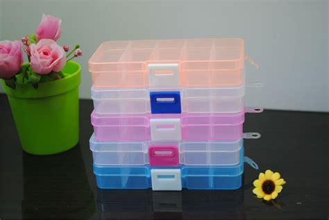 Promo Kotak Penyimpanan Plastik Mini 5 2 Kotak Murah jual 5x2 kotak plastik warna transparant obat perhiasan cincin akik kalung toko jempol