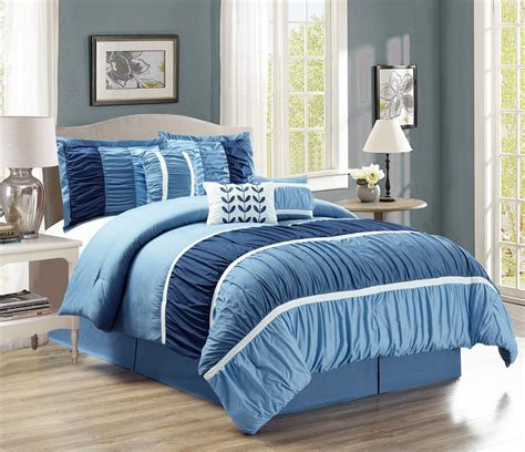 ruched comforter sets 7 ruched navy blue comforter set