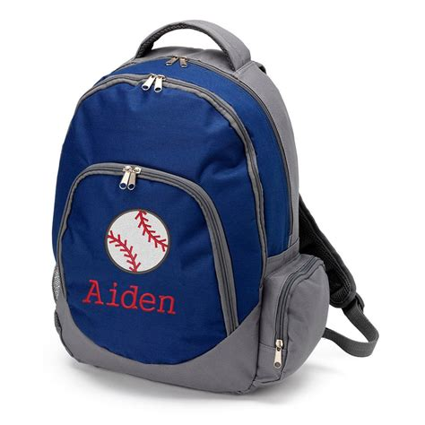 personalized backpack  boys baseball backpack monogram