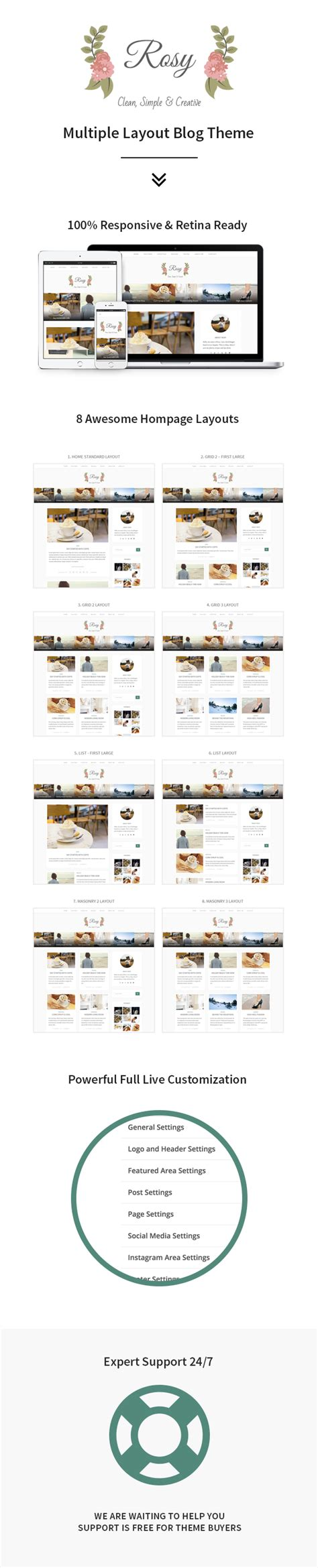 wordpress multiple layout rosy beautiful multiple layout wordpress blog theme